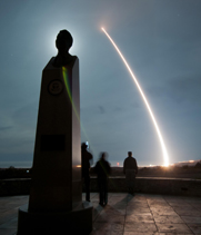 A U.S. Minuteman 3 intercontinental ballistic missile lifts off in a December test launch at Vandenberg Air Force Base in California. The Pentagon on Tuesday proposed eliminating 50 weapons from the nation's deployed ICBM fleet to help implement an arms control treaty with Russia.