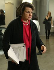 Senator Dianne Feinstein (D-Calif.) speaks in January on Capitol Hill. On Wednesday, the senior lawmaker criticized the Energy Department's plan to extend the schedule for completing work on multiple nuclear-security projects.