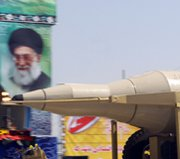 An Iranian Sajjil ballistic missile, shown on display in September at an annual military parade in Tehran. A senior U.S. official on Sunday said Washington wants to help Persian Gulf allies to field an integrated ballistic missile shield.