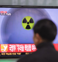 A man watches a television report on North Korea's third nuclear test at the Seoul Railway station in February 2013. The pace of preparations has picked up for the country's anticipated fourth atomic trial, according to two analyses of new satellite photographs.