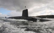 The British ballistic missile submarine HMS Vigilant. British Prime Minister David Cameron this week said the United Kingdom would put itself at risk by downsizing or eliminating its nuclear deterrent (British Royal Navy photo).