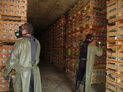 U.S. personnel inspect a chemical weapons storage facility in 2008. The United States on Monday will join nearly 200 other nations at the five-year review conference for the international treaty that bans production, stockpiling and use of chemical weapons (U.S. Army Chemical Materials Agency photo).