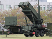 A Patriot Advanced Capability 3 air-defense launcher deployed on Tuesday at the Japanese Defense Ministry in Tokyo. Several batteries were set up around the capital city amid reports North Korea is preparing to launch a ballistic missile  (AP Photo/Koji Sasahara).