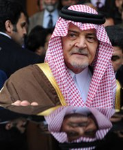 Saudi Foreign Minister Saud al-Faisal, shown in January, on Tuesday called for a strong international response to last week's alleged use of chlorine gas during fighting in Syria's civil war.