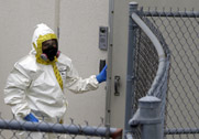 A Prince George's County, Md. firefighter dressed in hazardous materials gear on Wednesday enters a Washington, D.C. area government mail screening site where a ricin-tainted letter was found. Most attempts to employ ricin as a weapon have been tied to groups and individuals with personal vendettas or extreme political agendas.
