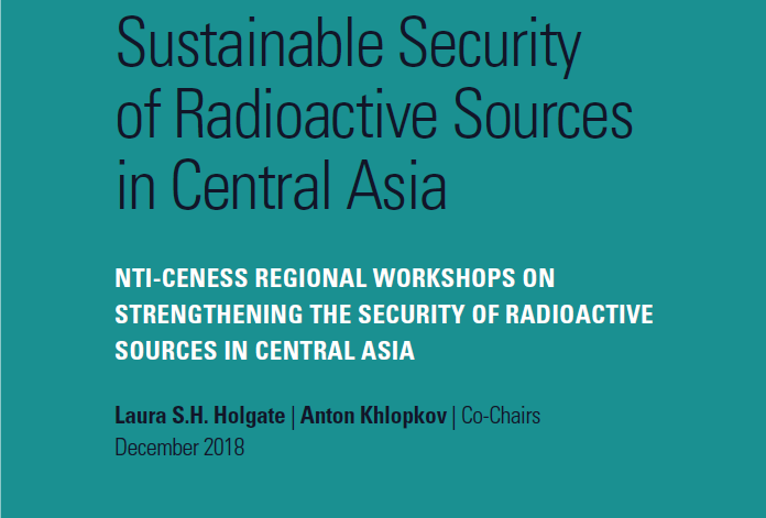 Sustainable Security of Radioactive Sources in Central Asia