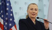 U.S. Secretary of State Hillary Clinton, on Monday in Prague, warned Syria against using its chemical weapons to put down the uprising against the Assad regime (AP Photo /Kevin Lamarque).