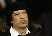 Former Libyan dictator Muammar Qadhafi, shown in March 2008. The United States wants to identify the origin of chemical warfare materials never declared by Qadhafi's government before its fall in 2011 (AP Photo/Nasser Nasser).
