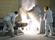 Technicians work at Iran's uranium conversion facility in 2005. Tehran and six major governments on Thursday ended a four-day meeting without reaching agreement on details for carrying out a nuclear accord reached in November (Getty Images).