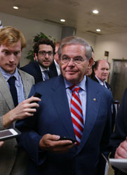 Senate Foreign Relations Committee Chairman Robert Menendez (D-N.J.), shown in September, on Thursday joined 23 other senators in introducing legislation that would threaten new sanctions against Iran (Mark Wilson/Getty Images).