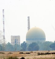 A heavy-water reactor at Pakistan's Khushab nuclear complex in April 2008. Recent satellite images indicate the exterior of a fourth plutonium-production reactor at the site is almost finished (Aamir Qureshi/AFP/Getty Images).