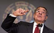 Defense Secretary Leon Panetta, speaking on Wednesday at Georgetown University, warned of the impact imminent federal budget cuts could have on the Pentagon's capacity to respond to crises in North Korea and other global hot spots (AP Photo/Manuel Balce Ceneta).