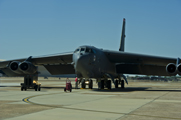 A B-52H bomber returns to Barksdale Air Force Base in Louisiana following an eight-hour training flight in April 2012. The head of the Air Force Global Strike Command warned this week that B-52 flying hours could be cut if steep defense budget reductions take effect on March 1 (U.S. Air Force photo).
