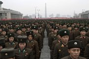 North Korean troops gather in Pyongyang's Kim Il Sung Square for a Thursday celebration of the nation's latest nuclear test. There are suspicions the North might in short order conduct another underground nuclear blast (AP Photo/Jon Chol Jin).