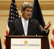Secretary of State John Kerry, shown on Wednesday, has warned of the impact coming federal budget cuts would have on his department's efforts to counter terrorism and nuclear weapons threats (AP Photo/Steve Helber).