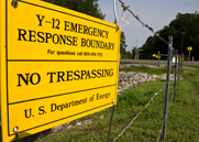 A fence at the Y-12 National Security Complex in Tennessee. A senior Energy Department official on Thursday suggested the July break-in at Y-12 made elimination of the semiautonomous DOE agency that oversees the U.S. nuclear arms worth considering (AP Photo/Erik Schelzig).
