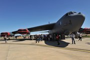 Patrons line up to view the inside of a U.S. Air Force B-52 bomber during the Australian International Airshow in Melbourne last March. A nuclear bomb carried by the aircraft is being updated and has undergone an initial performance assessment.