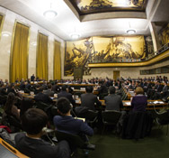 The international Conference on Disarmament meets in Geneva on Tuesday. The body's current rotating president, Israel, said there was no consensus among member states on a 2014 work program that would open negotiations on proposed new arms control accords.