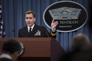 Pentagon Press Secretary Rear Adm. John Kirby briefs reporters at the Pentagon on Wednesday regarding nuclear-personnel matters. Kirby announced that Defense Secretary Chuck Hagel is launching an independent review of atomic-force ethical lapses, in addition to internal probes already under way.