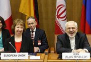 European Union foreign policy chief Catherine Ashton and Iranian Foreign Minister Mohammad Javad  Zarif participate in a Thursday discussion on Iran's disputed nuclear activities. Iran is slated on March 17 to begin its next high-level meeting with the five permanent U.N. Security Council member nations and Germany.