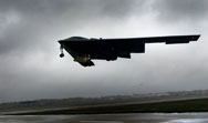 A B-2 stealth bomber takes off from Whiteman Air Force Base in Missouri for a 2002 training run to a bombing range in Alaska. A new grassroots coalition is looking to preserve the U.S. nuclear-weapons triad of bomber aircraft, submarines and ground-based missiles, amid growing fiscal constraints.