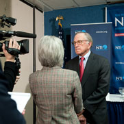 Following the Index press conference, Senator Nunn is interviewed by CNN correspondent Jill Dougherty.