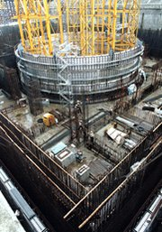 A Taiwanese nuclear power plant being built in 2000. The United States in 2013 could send Congress a renewed nuclear trade pact with Taiwan, as well as new accords or renewals with other Asia-Pacific nations (AP Photo/Jerome Favre).
