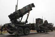 Dutch Patriot missile batteries are displayed on Jan. 7 before being shipped to Turkey. NATO on Wednesday said the Dutch units would likely be operational by this weekend, followed later this month by U.S. and German air-defense systems (AP Photo/Mark Carlson).
