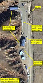 A Nov. 7 satellite image of the Parchin military base in Iran. Independent experts are divided over the facility's importance to a United Nations probe intended to clarify whether Iran's nuclear program has military aims (AP Photo/Institute for Science and International Security).