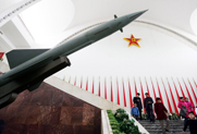 An anti-aircraft missile is seen at the Military Museum in Beijing in February 2007, one month after China conducted its first successful antisatellite test. Another trial appears set to occur in short order, according to the Union of Concerned Scientists (AP Photo/Greg Baker).