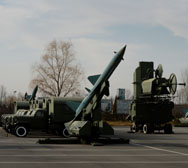 Surface-to-air missiles are seen on display in December at the People's Liberation Army Aviation Museum in Beijing. The Chinese military this week published pictures of a recent test-firing of an ICBM, an unusual step that is seen by analysts as intended to send a deterrence message to the United States.