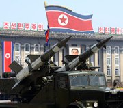 Missiles are displayed during a military parade in Pyongyang in April 2012. Recent satellite images suggest North Korea is preparing a comprehensive testing program for its mysterious new road-mobile, long-range ballistic missile.