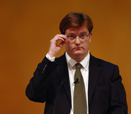 Danny Alexander, U.K. chief secretary to the Treasury, delivers a keynote speech at the Liberal Democrat autumn conference in Glasgow, Scotland, in September. He said in an interview that politics inside Britain's coalition government played no role in a report on nuclear posture alternatives.