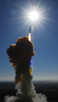 A U.S. Ground-based Interceptor lifts off in a 2008 trial launch. The interceptor failed to shoot down a mock enemy ballistic missile during a key test on Friday (U.S. Missile Defense Agency photo).
