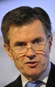 """British Secret Intelligence Service chief John Sawers, shown in 2010, last week said Iran could become a """"nuclear weapons state"""" in 2014 (AP Photo/Toby Melville)."""