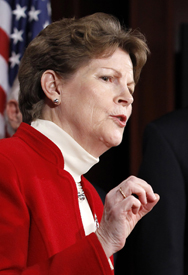 U.S. Senator Jeanne Shaheen (D-N.H.), shown in 2010, on Tuesday suggested it would be unwise to seek Senate approval of the Comprehensive Test Ban Treaty during the current congressional session (AP Photo/Alex Brandon).