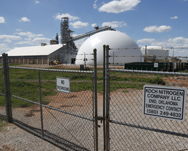 An Oklahoma fertilizer plant, shown last month. House Republicans last week reaffirmed a threat to defund a federal chemical security program, citing concerns that the Homeland Security Department is taking too long to fully roll out the initiative (AP Photo/Sue Ogrocki).