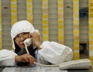 A worker passes communications from her station during a 2011 exercise at an atomic energy site in Taiwan's Wanli district. Taipei and Washington appear set to complete talks this year on an updated nuclear trade accord, according to a high-level U.S. State Department official (AP Photo/Wally Santana).