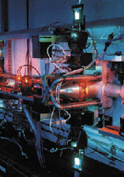 Laser isotope separation equipment. The U.S. Nuclear Regulatory Commission last week rejected a bid to require license applicants for new nuclear fuelmaking processes, such as laser enrichment, to perform proliferation assessments (Lawrence Livermore National Laboratory photo).