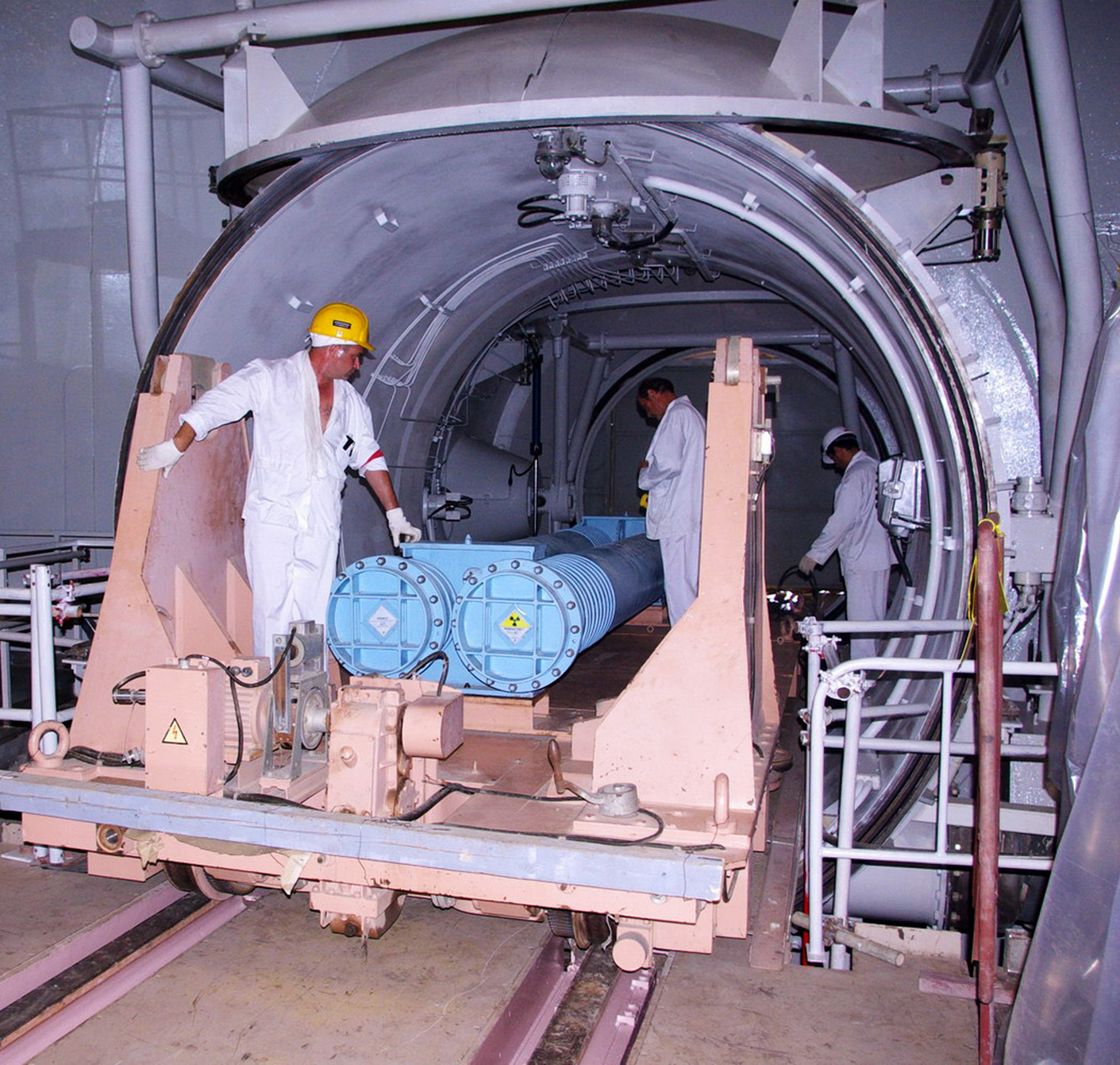 Workers load nuclear fuel in the reactor building at Iran's Bushehr nuclear power plant in 2010. Iran may buy two new power reactors from Russia, possibly helping Tehran to argue that it needs more fuel-production systems.