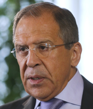 Russian Foreign Minister Sergei Lavrov, shown on Friday, said all nuclear-armed nations must participate in any new effort to reduce strategic nuclear forces (AP Photo/Dmitry Lovetsky).