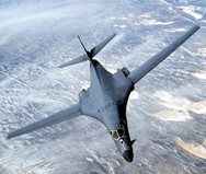 A U.S. B-1 bomber. The U.S. long-range bomber fleet's annual cost could reach $10 billion in under a decade, the Pentagon said last week in a report to Congress (AP Photo/U.S. Air Force).