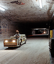 An underground corridor at the Waste Isolation Pilot Plant in New Mexico. A federal investigation announced last week into possible safety lapses at the site may lead to significant penalties for its managing contractor.