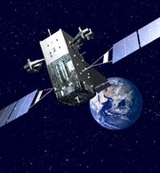 """An artist's rendering of a Space Based Infrared System """"GEO"""" satellite. The U.S. Air Force recently awarded a nearly $1.9 billion contract to Lockheed Martin to finish up production work on two more of the missile-detecting sensors."""