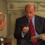 "Former Senator Fred Thompson plays the President in the docudrama, ""Last Best Chance."""