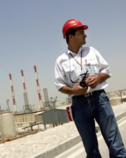 An engineer stands in an Iranian gas field in 2005. U.S. Secretary of State John Kerry on Thursday countered Senate suggestions that Iran has reaped notable financial gains under a short-term nuclear deal reached last year.