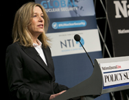 Elizabeth Sherwood-Randall, a key White House aide, seen last week addressing a policy forum on nuclear security. Sherwood-Randall said on Monday that the Obama administration hoped to make strides on the issue of military nuclear material security in time for the 2016 Nuclear Security Summit in Washington.
