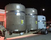 A shipment of transuranic nuclear waste arrives at the Waste Isolation Pilot Plant. A nuclear-arms laboratory in New Mexico may entrust Texas with nuclear waste that had been bound for the in-state burial site until a recent leak.
