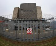 A 'no trespassing' sign on a perimeter fence of Sizewell nuclear power stations in March 2011 in Leiston, England. World leaders are gathering in The Hague to discuss strengthening the security of sites holding radioactive materials in a bid to prevent nuclear terrorism worldwide.