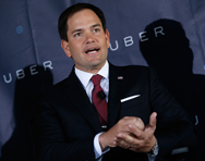 U.S. Senator Marco Rubio, as seen on Sunday at Uber's headquarters in Washington. The Florida Republican and five other GOP senators filed a resolution condemning Russia's alleged violation of a treaty on midrange nuclear missiles.